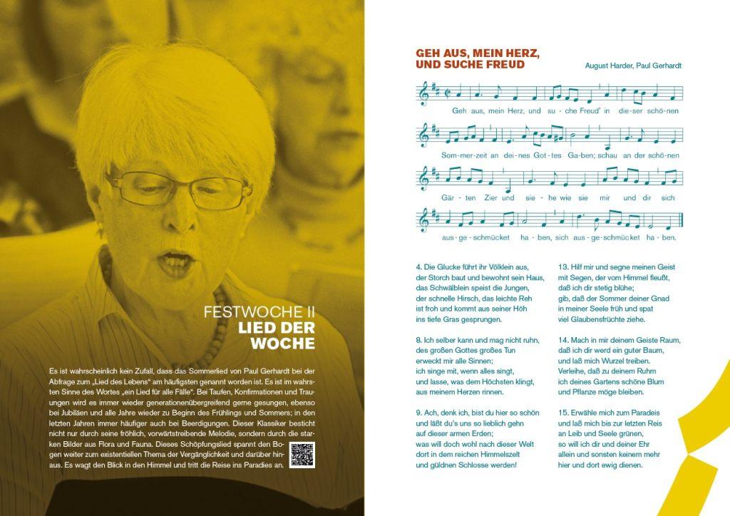 Lied der Woche beim Festival MICHAELIS SINGT in Lüneburg.