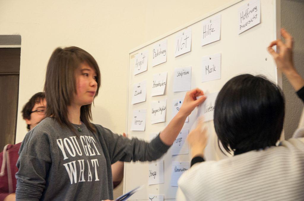 Kirchenmusik-Studierende diskutieren mit Schüler/innen die Choralthemen