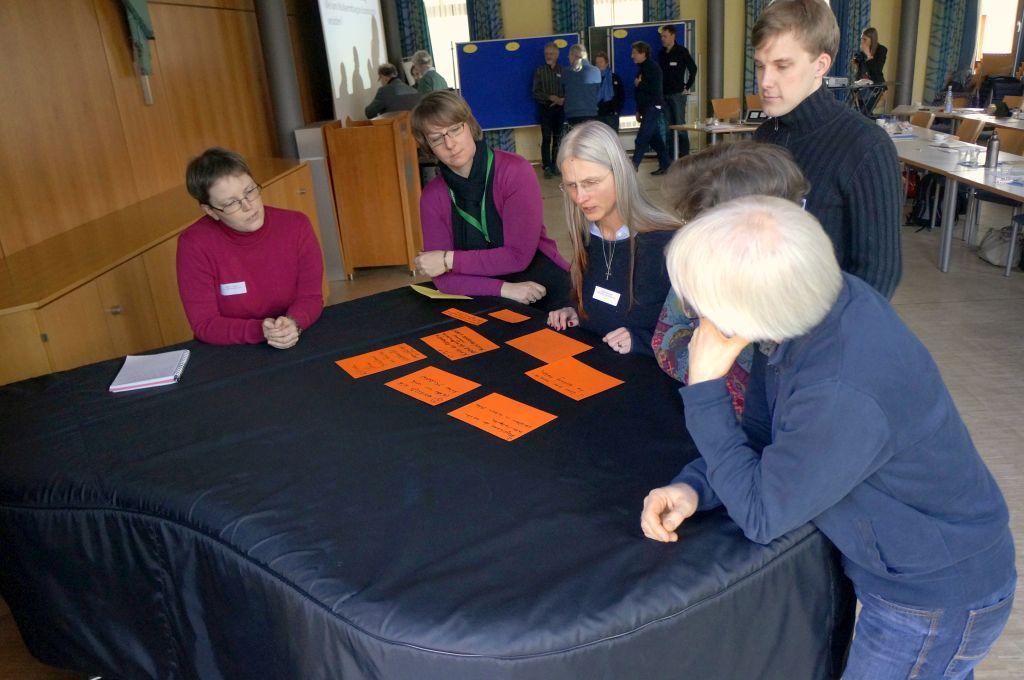 Gruppenarbeit beim Fachtreffen