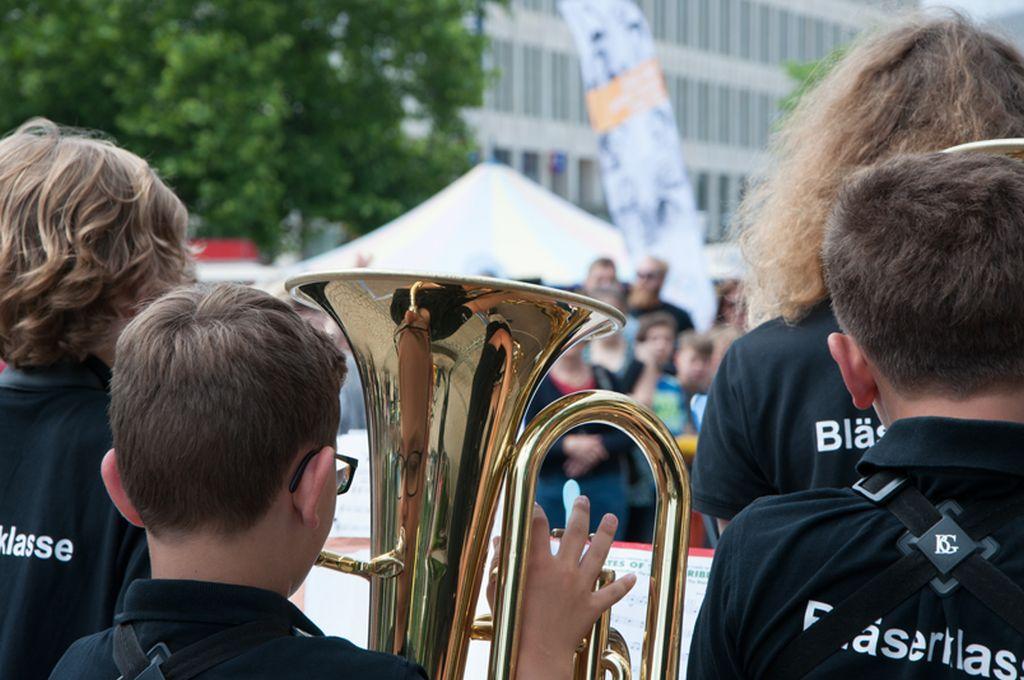 Auftakt von FLÄCHENGOLD mit niedersächsischen Bläserklassen