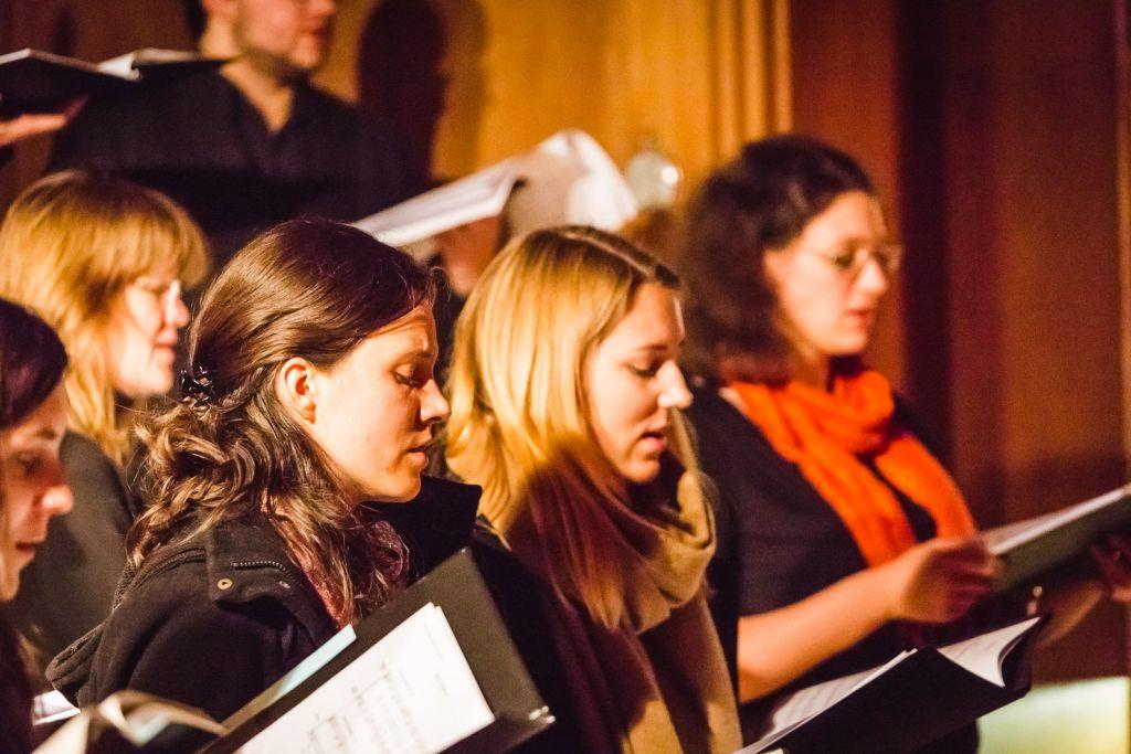 Studierende aus Hannover, Herford, Hildesheim und Göttingen beim nach(t)klang