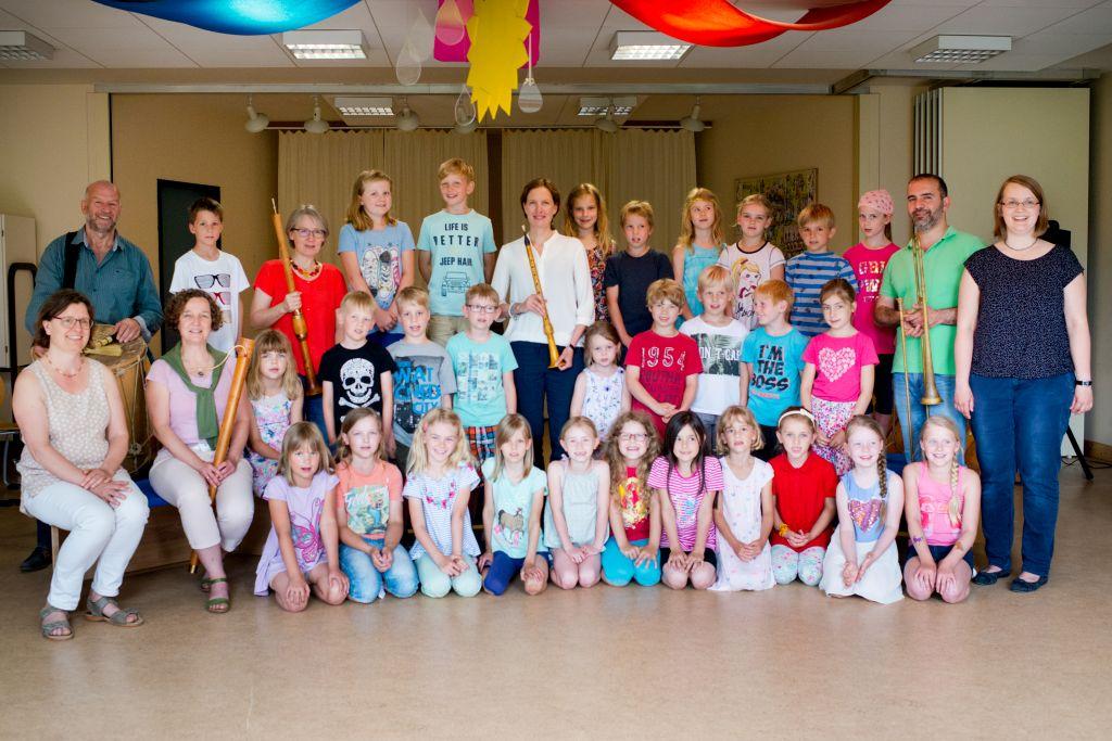 Die Chorklassen der Grundschule Ribbesbüttel und CAPELLA DE LA TORRE. Bild: Anna-Kristina Bauer