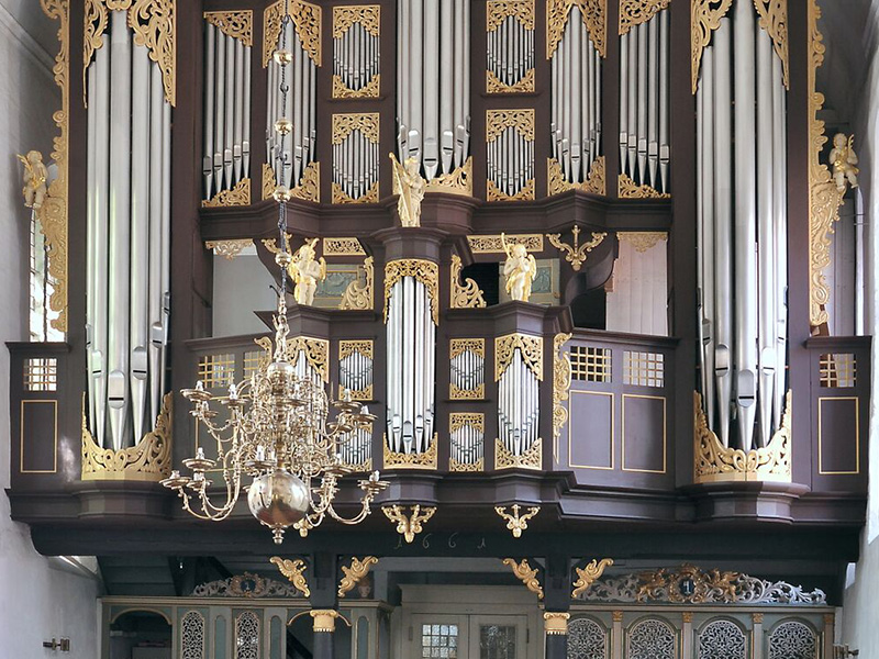 Orgel in St. Cosmae et Damiani Stade von Berend Huß und Arp Schnitger (1675). Bild: Christoph Schönbeck