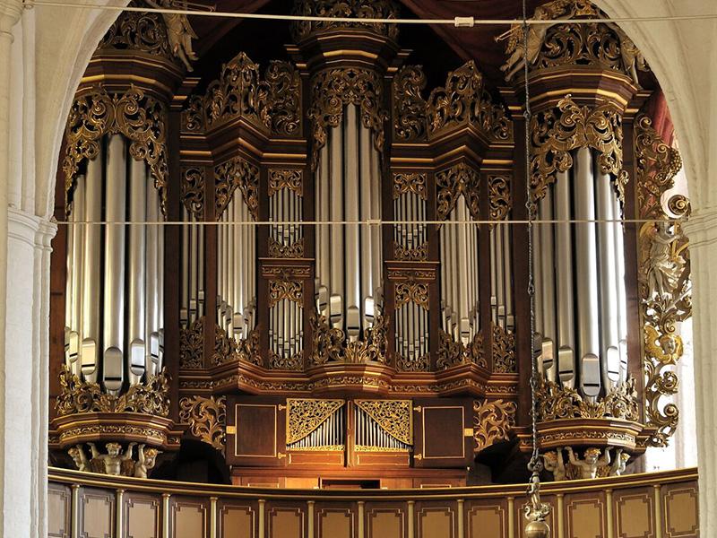Orgel in St. Wilhadi Stade von Erasmus Bielfeldt (1736). Bild: Christoph Schönbeck