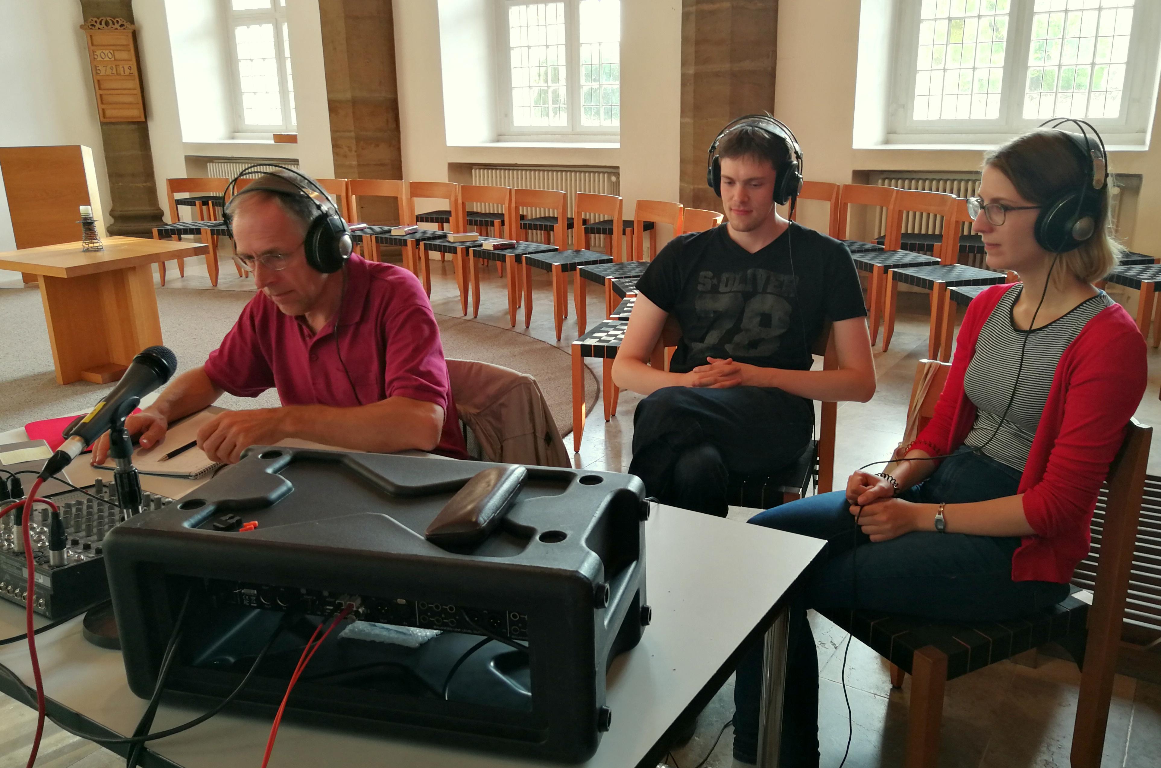 Aufnahmen in der Michaeliskirche Hildesheim. Bild: VISION KIRCHENMUSIK